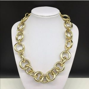 JCREW Gold Tone Chunky Chain Link Necklace J. Crew